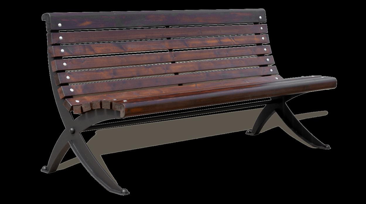 Panchina per arredo urbano con seduta e schienale in fasce for Arredo urbano legno