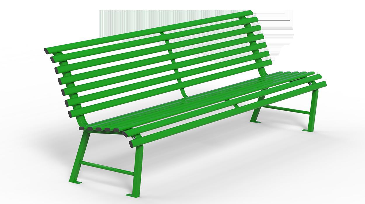Panchina in tubolare di acciaio zincato per arredo urbano for Dimcar arredo urbano