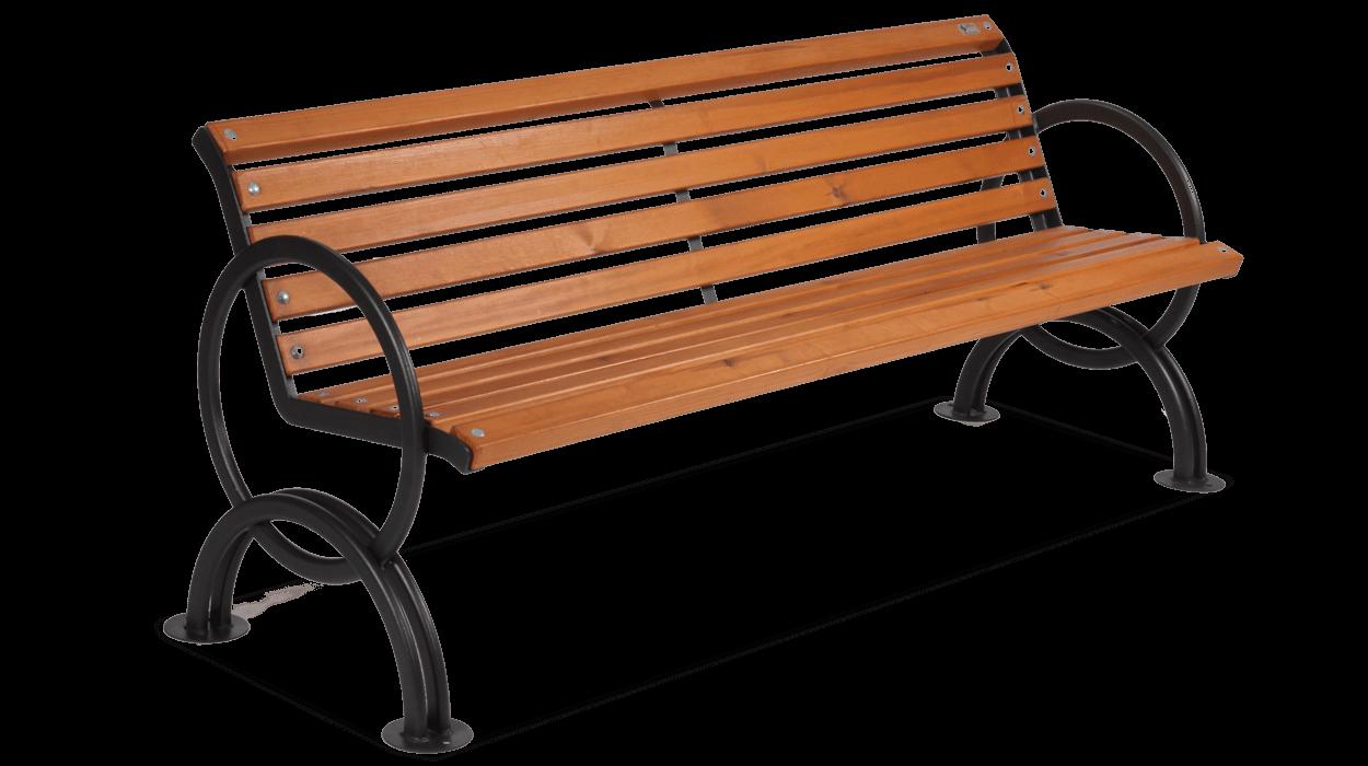 Panchina per arredo urbano in acciaio con listoni in legno for Dimcar arredo urbano