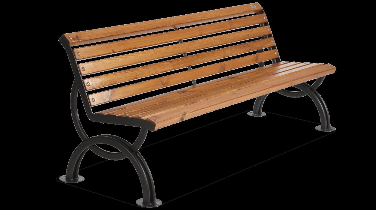 Panchina Con Seduta E Schienale In Legno Per Arredo Urbano