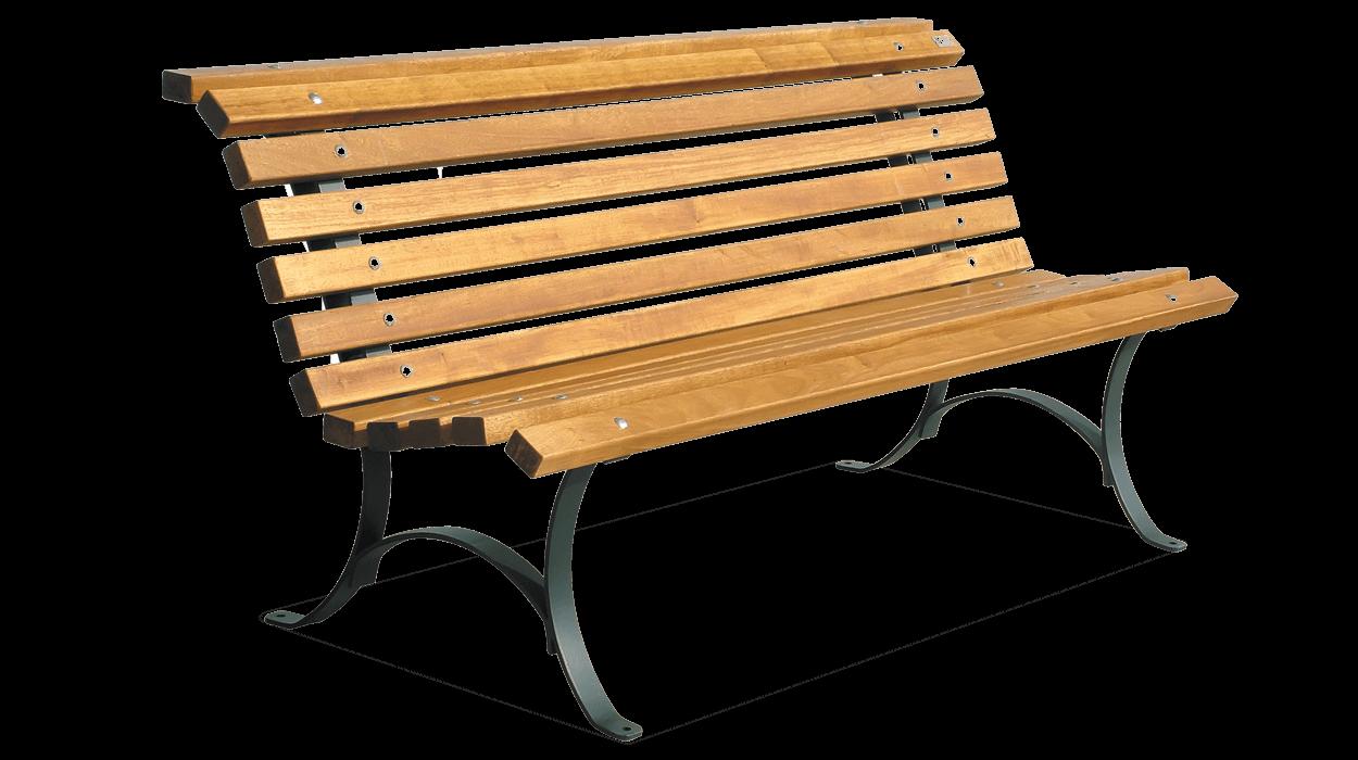 Panchina in acciaio zincato e legno per arredo urbano for Un arredo urbano