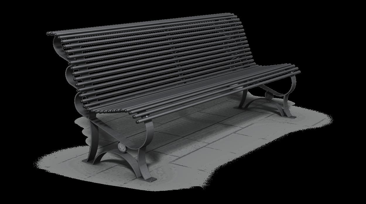 Panchina per arredo urbano realizzata in acciaio zincato for Dimcar arredo urbano
