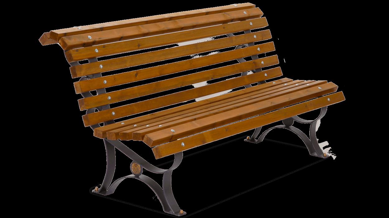Panchina per arredo urbano in metallo con listoni in legno modello margherita - Panchine da giardino ikea ...
