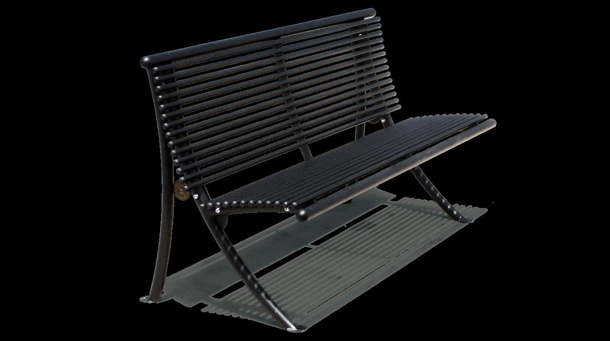 Panchina con schienale realizzata con tubolari tondi in for Dimcar arredo urbano