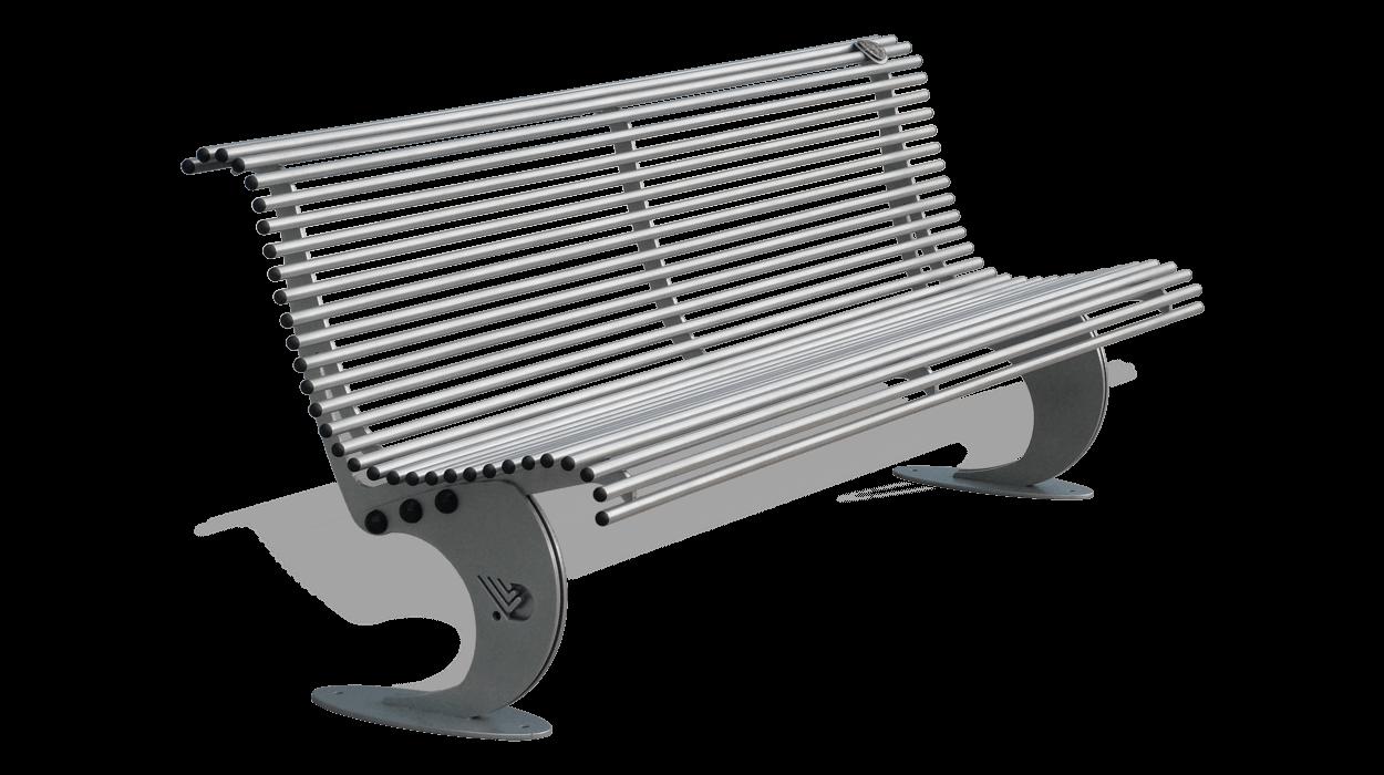 Panchina in acciaio zincato per arredo urbano in stile for Arredo urbano panchine