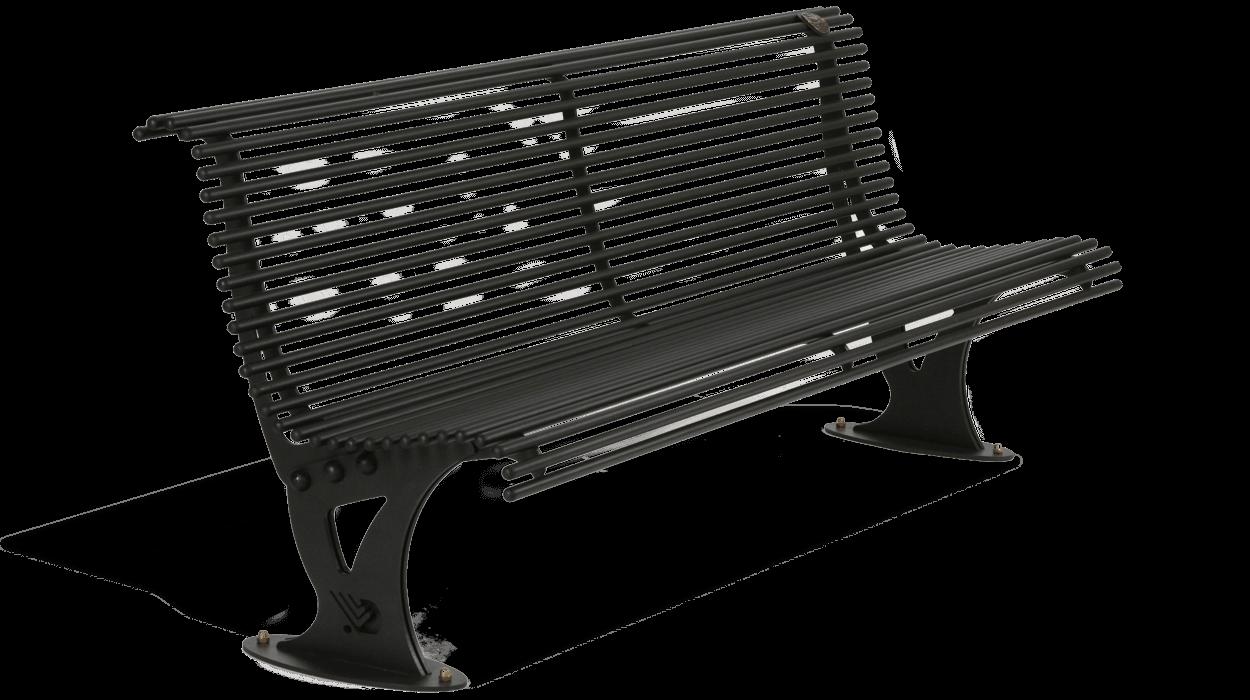 Panchina modello mira realizzata interamente in acciaio for Dimcar arredo urbano