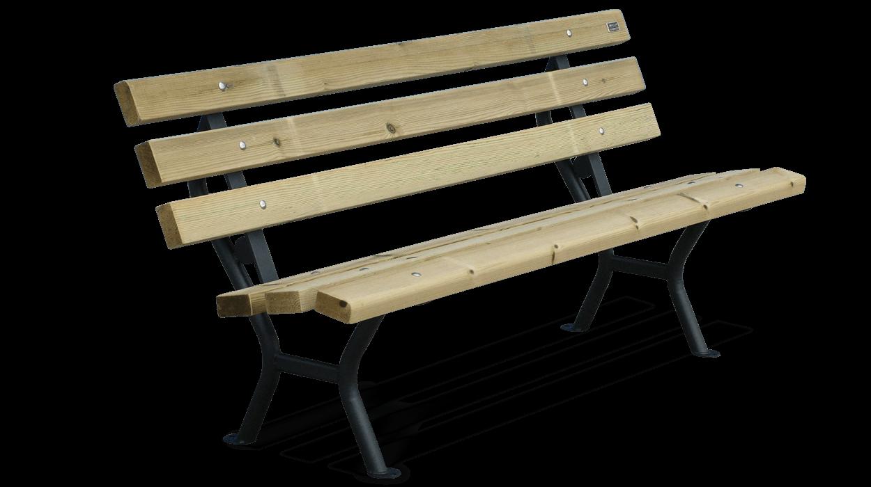 Panchina arredo urbano realizzata in acciaio e listoni in for Dimcar arredo urbano