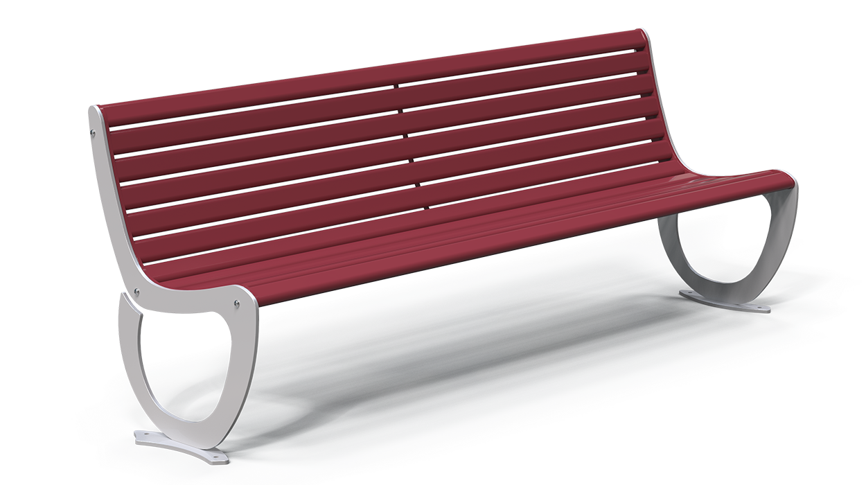 Panchina realizzata in ferro da installare in spazi for Arredo urbano panchine