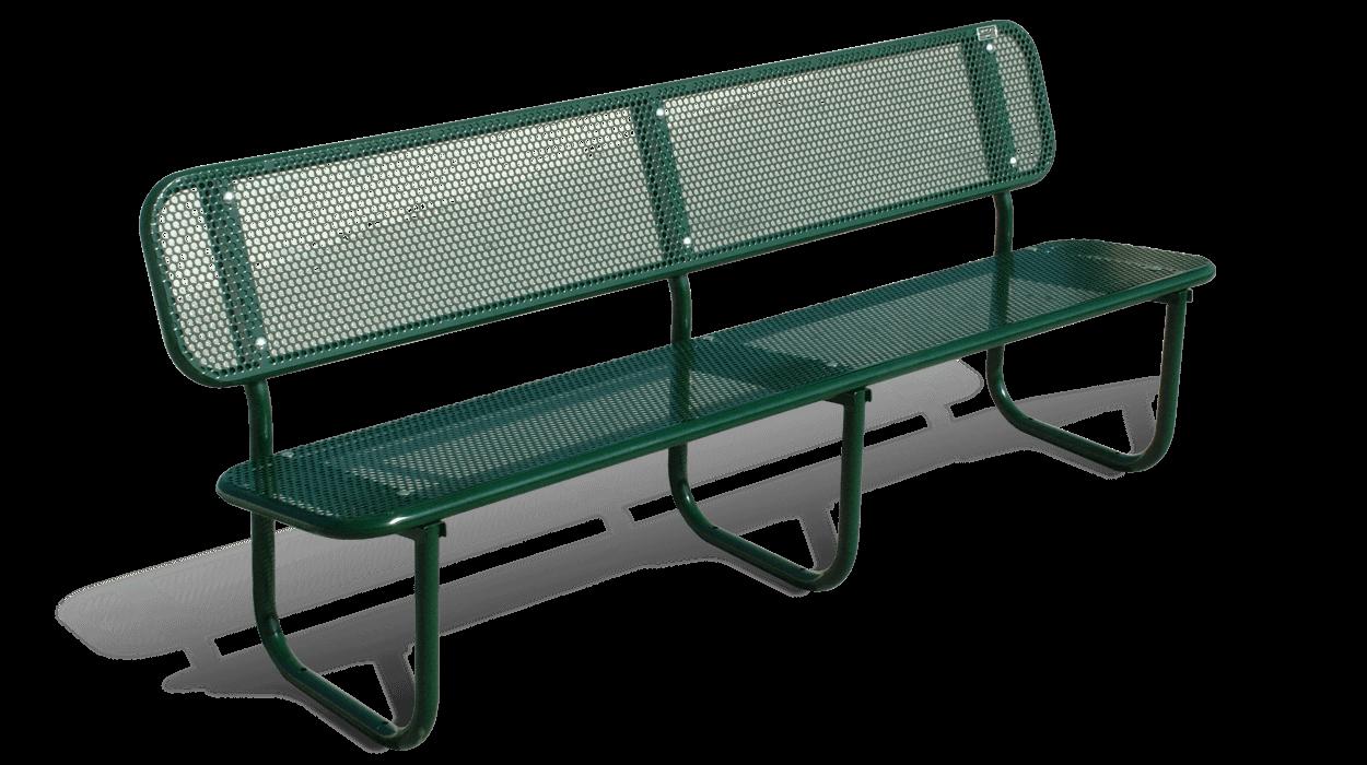 Panchina in acciaio zincato per arredo urbano e giardino for Dimcar arredo urbano