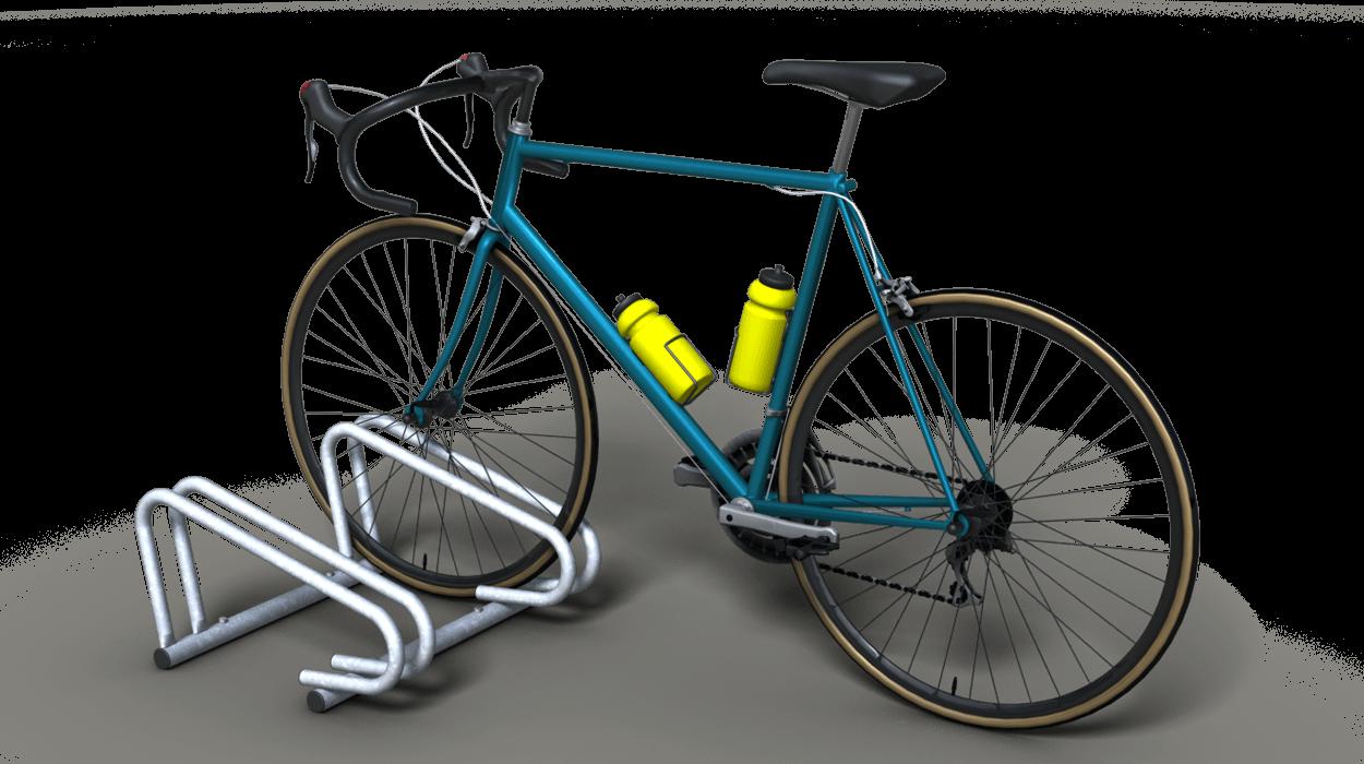 Rastrelliere per biciclette a due posti realizzato in for Arredo urbano roma
