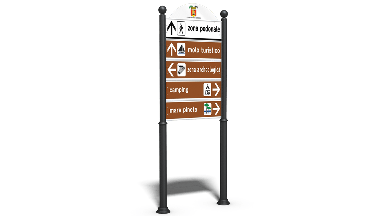Tabellone verticale per segnaletica stradale aziendale e - Totem palo modelli per bambini ...