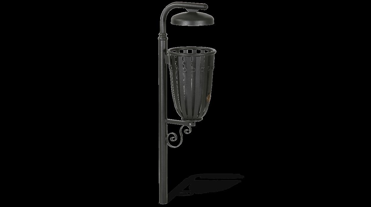Pattumiera in acciaio per arredo urbano modello otranto for Cestini arredo urbano
