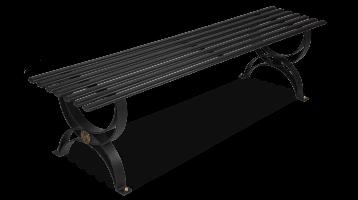 Panca senza schienale realizzata in ferro per arredo for Dimcar arredo urbano