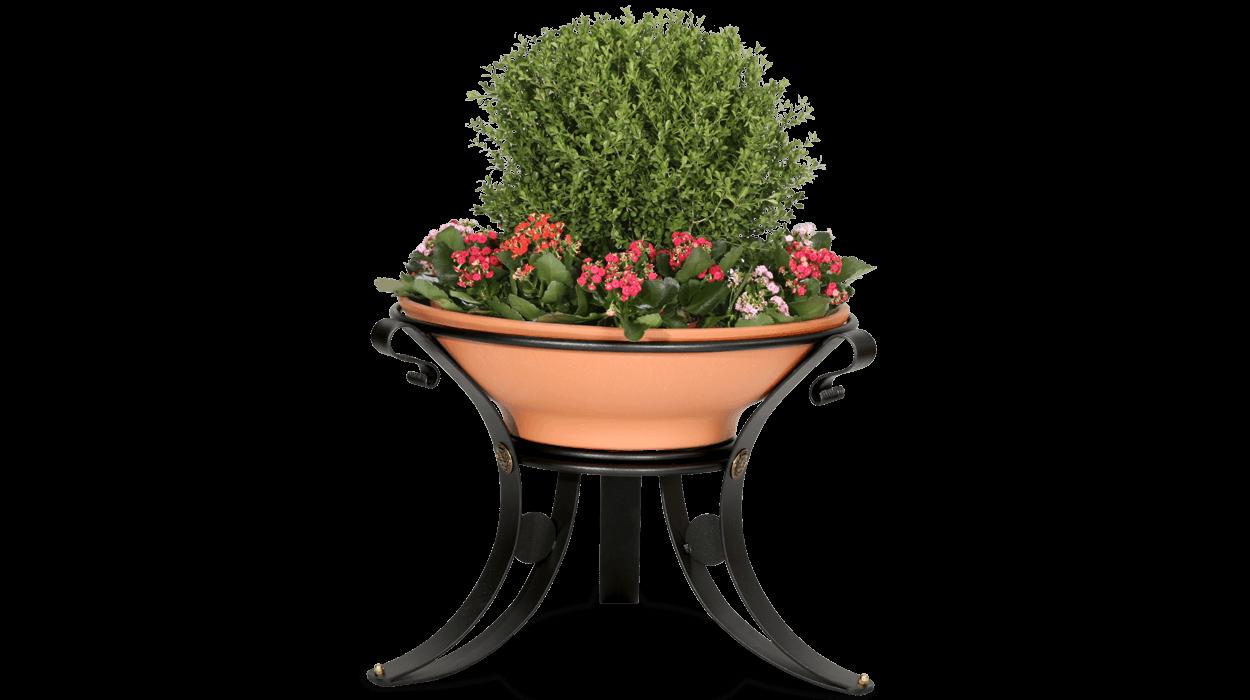 Fioriera in metallo e vaso in terracotta per arredo urbano for Dimcar arredo urbano
