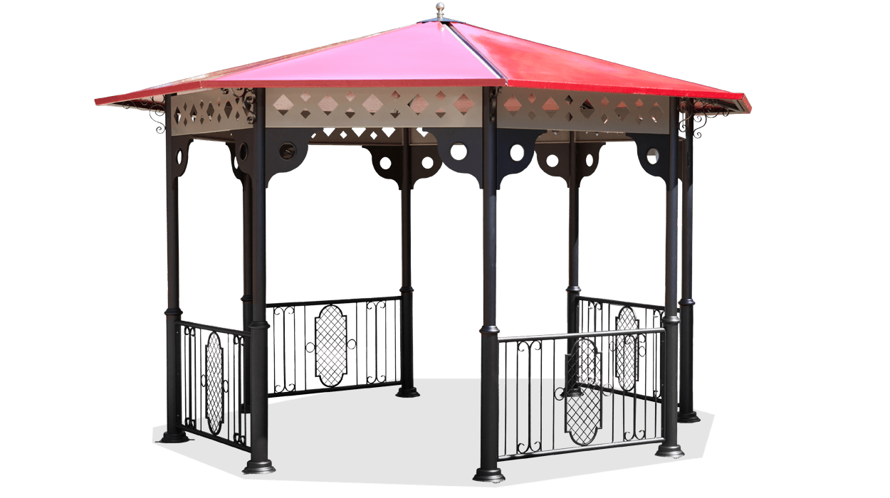 Classic style gazebo, made of metal with resin roof, Morfeo model.