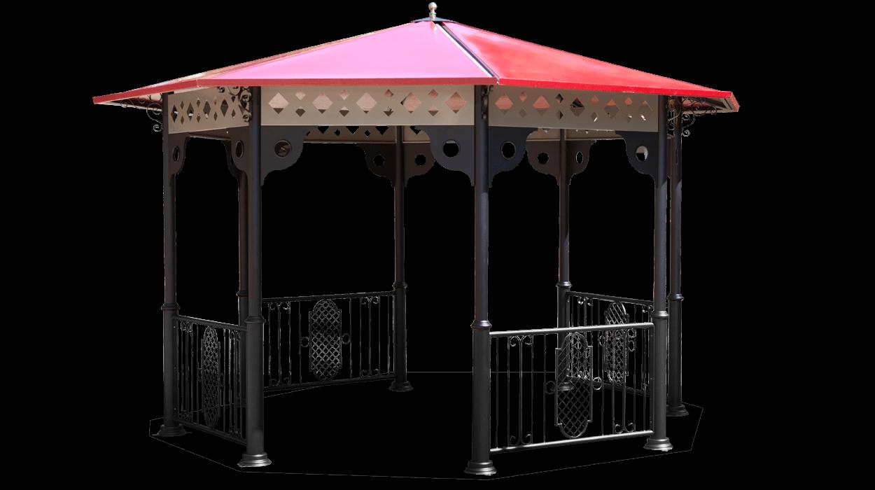Gazebo in stile classico realizzato in metallo con tetto for Gazebo in stile francese