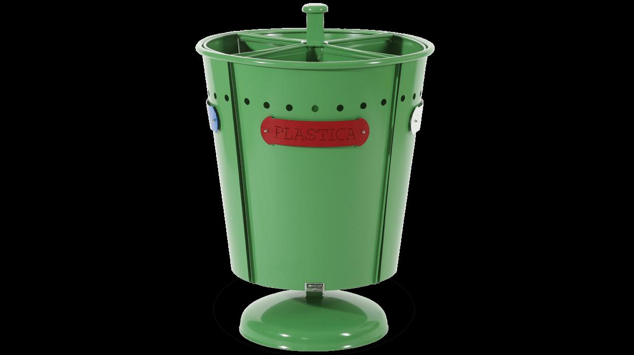 Cestone in metallo per raccolta differenziata dei rifiuti for Dimcar arredo urbano