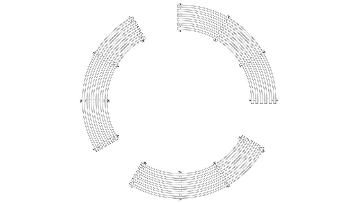 Panca curva senza schienale per arredo urbano in acciaio for Dimcar arredo urbano