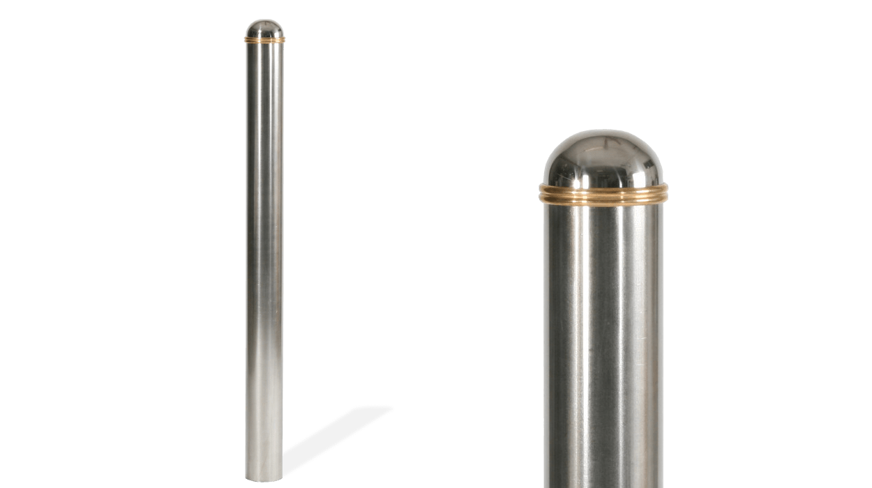 Roof bollard made of stainless steel model Royal.