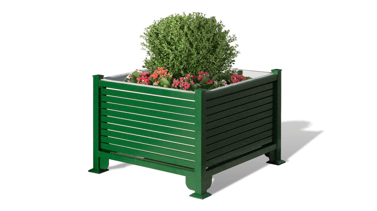 Iron planter for public spaces made of metal, model Persian.