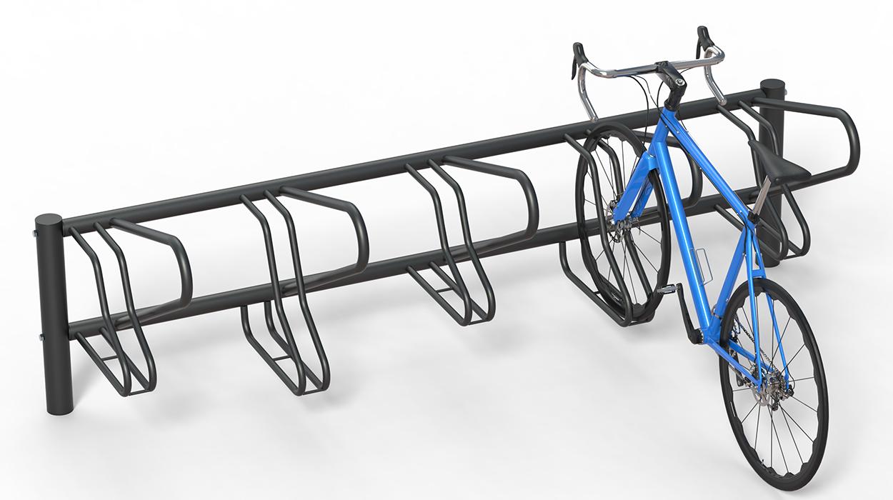 Rastrelliere porta bici in acciaio zincato per arredo for Dimcar arredo urbano