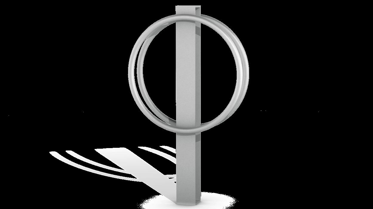 Portabici verticale in acciaio zincato per arredo urbano for Dimcar arredo urbano