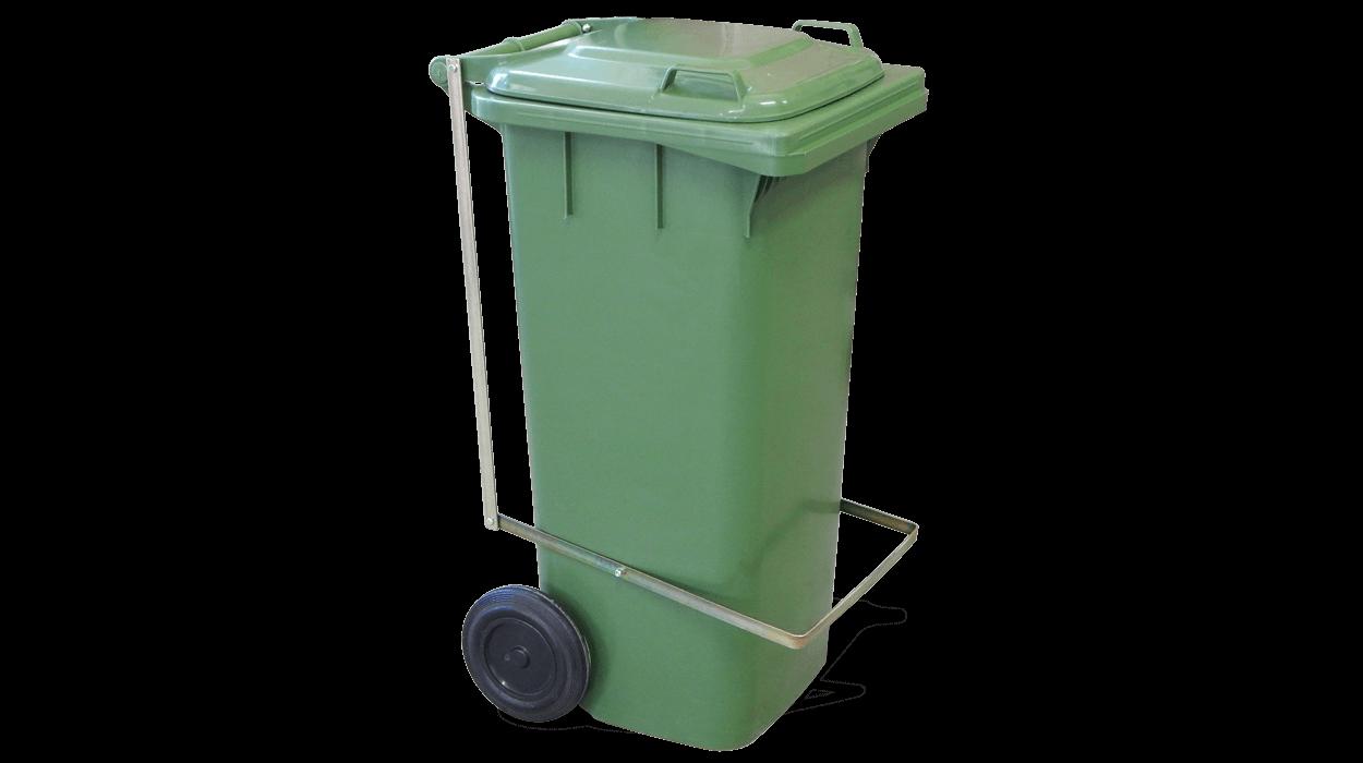 Pattumiera in pvc per raccolta rifiuti apertura a pedale for Dimcar arredo urbano