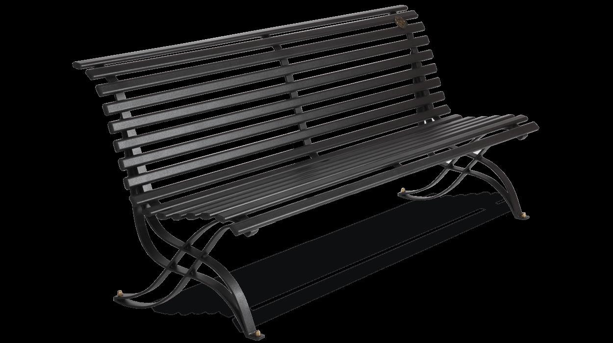 Panchina in metallo seduta e schienale in tubolare ovale for Dimcar arredo urbano