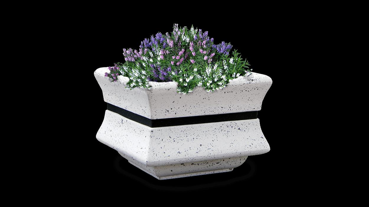Square Concrete Planter Model Menhir