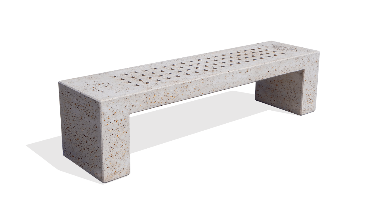 Clas bench for urban furniture Moai model