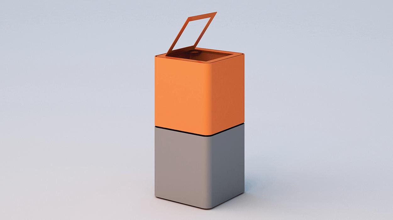 Cestone cubik for Dimcar arredo urbano