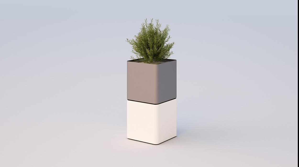 Fioriera cubik for Dimcar arredo urbano
