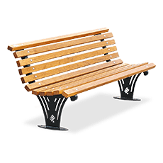 Bench Ariete with wooden planks
