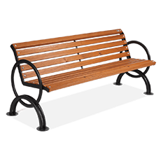 Bench Lesina with armrests