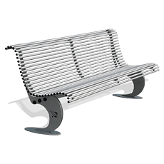 Bench Luxe galvanized steel