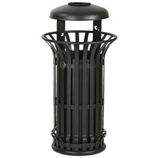 Large Trash Bin Mida with Lid and ashtray