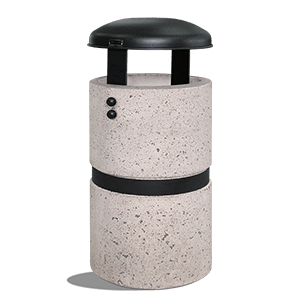Large Trash Bin Luna grey finish