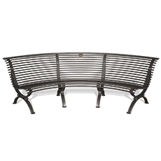 Bench Clematis seat curved inwards
