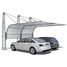 Shelter for cars Airone