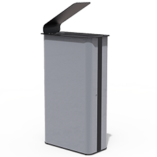 Large trash bin Paint Black