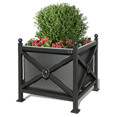 Flower Box Orchidea Midi with panels perforated sheet