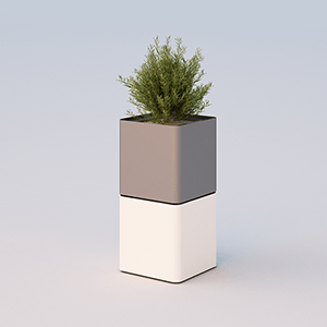 Cubik flower box hight