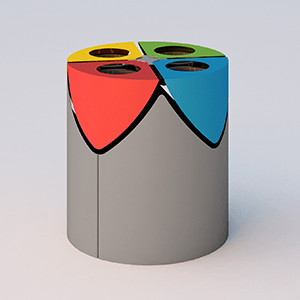 Kurt large trash bin