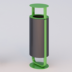 Diapason litter bin with lid