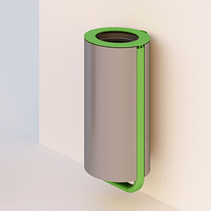 Diapason litter bin wall mounting