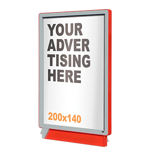 PopUp display open case 200x140
